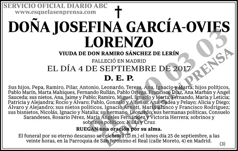 Josefina García-Ovies Lorenzo